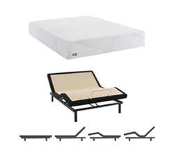 Twin XL Size Firm Mattress and Adjustable Base sealy smb upbeat