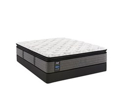 California King Size Plush Euro Pillow Top Mattress and Box Spring Sets sealy smb rachel clare pl ept