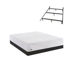 Queen Size Low Profile 5.5 in Mattress Sets w Frame  sealy smb treat cf