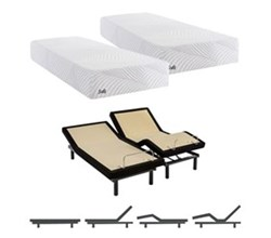 Eastern King Size Cushion Firm Mattress and Adjustable Base sealy smb treat cf