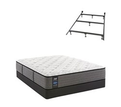 Sealy Twin Size Cushion Firm Euro Top Mattress and Box Spring Set W Frame  sealy smb rachel clare pl tt
