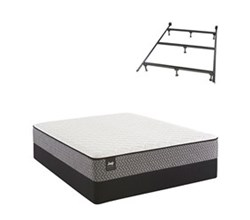 Sealy Full Size Plush Mattress and Box Spring Set W Frame  sealy smb bernstein pl tt