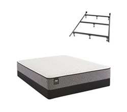 Sealy Queen Size Cushion Firm Euro Top Mattress and Box Spring Set W Frame  sealy smb bernstein pl tt