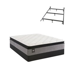 Sealy Twin Size Plush Mattress and Box Spring Set W Frame  sealy smb rio blanco pl et