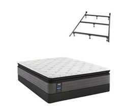 Sealy Twin XL Size Plush Mattress and Boxspring Sets With Bed Frame sealy smb hallie grace pl ept