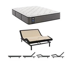 Eastern King Size Cushion Firm Euro Top Mattress and Adjustable Base sealy smb rachel clare pl tt