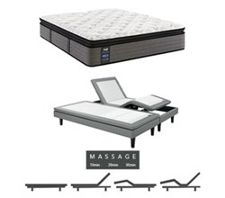 Sealy King Size Plush Euro Pillow Top Mattress and Adjustable Base Bundles rachel clare plush euro pillow top king size mattress and adjustable base with massage feature