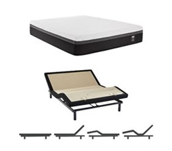 California King Size Firm Mattress and Adjustable Base sealy hybrid essentials trust ii cal king size firm mattress and adjustable base