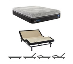 Sealy Cal King Size Plush Mattress and Adjustable Base Bundles sealy hybrid performance copper ii plush cal king size mattress and adjustable base