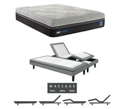 Sealy Cal King Size Plush Mattress and Adjustable Base Bundles sealy hybrid performance copper ii plush cal king size mattress and adjustable base with massage feature